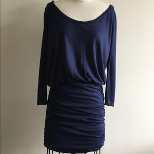 Women soft join navy knit dress M